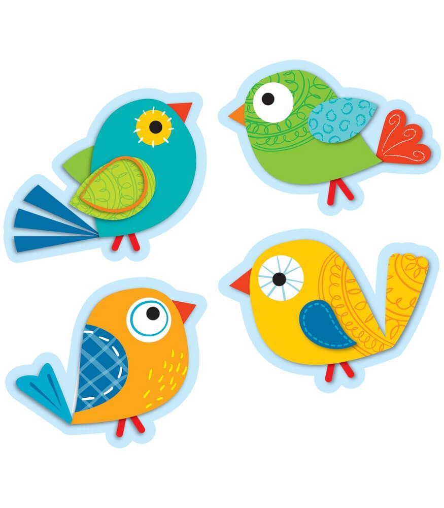 Boho Birds Cut Outs Grade Pk 5 Carson Dellosa Publishing