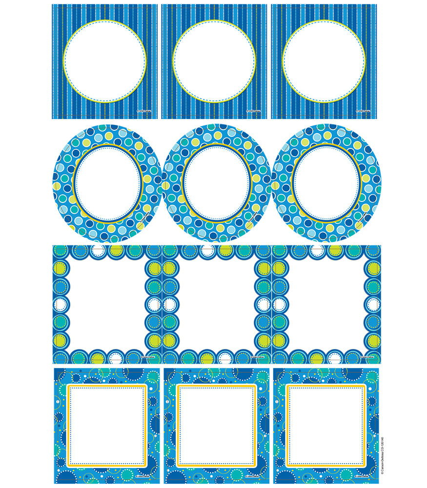 Bubbly Blues Cut-Outs Product Image