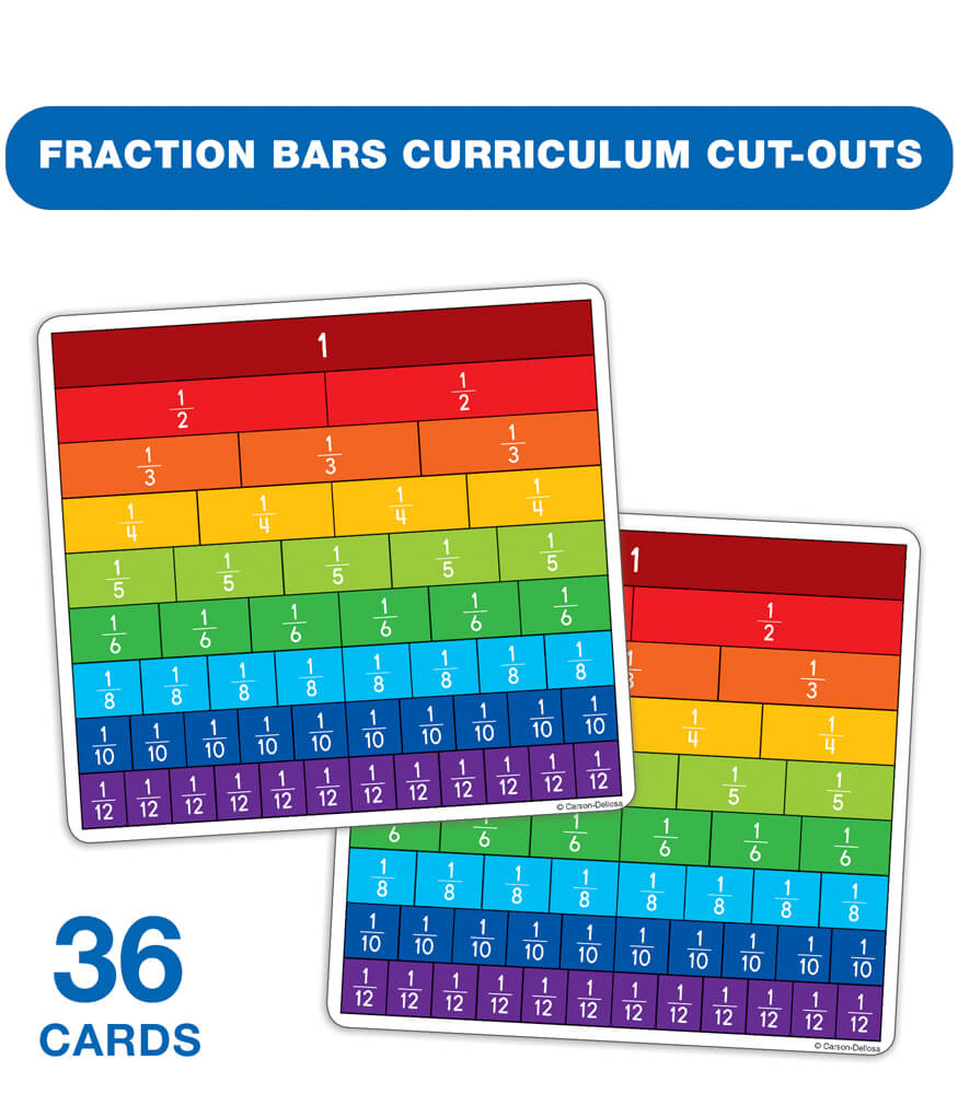 Fraction Bars Curriculum Cut-Outs Product Image