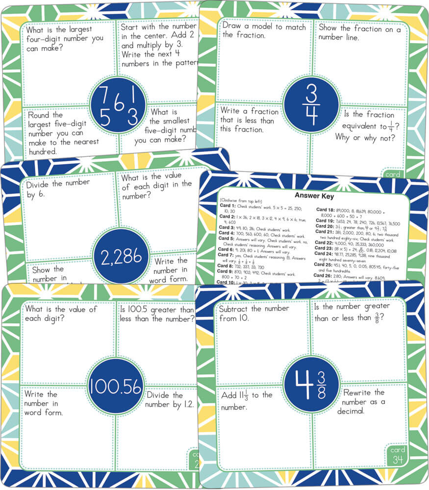Math Challenge: Number Sense—Intermediate Curriculum Cut-Outs Product Image