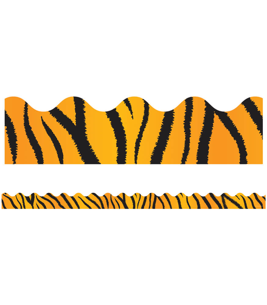 1243__tiger Print Scalloped Borders 1243 on Spring Boards For School