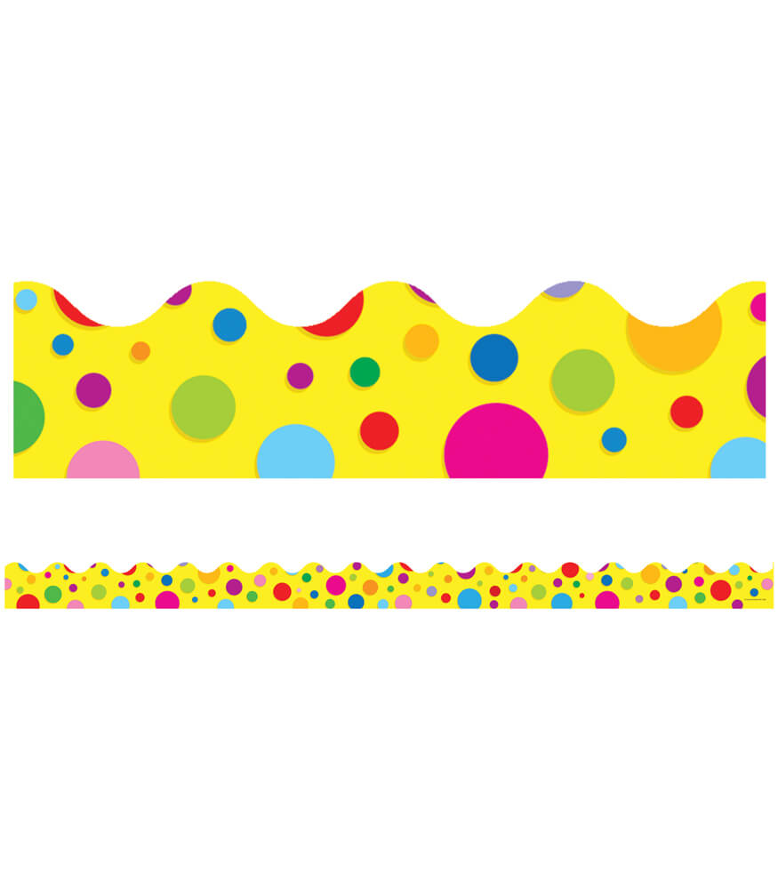 1246 Colorful Dots Scalloped Borders 1246 on Thanksgiving Day Bulletin Boards