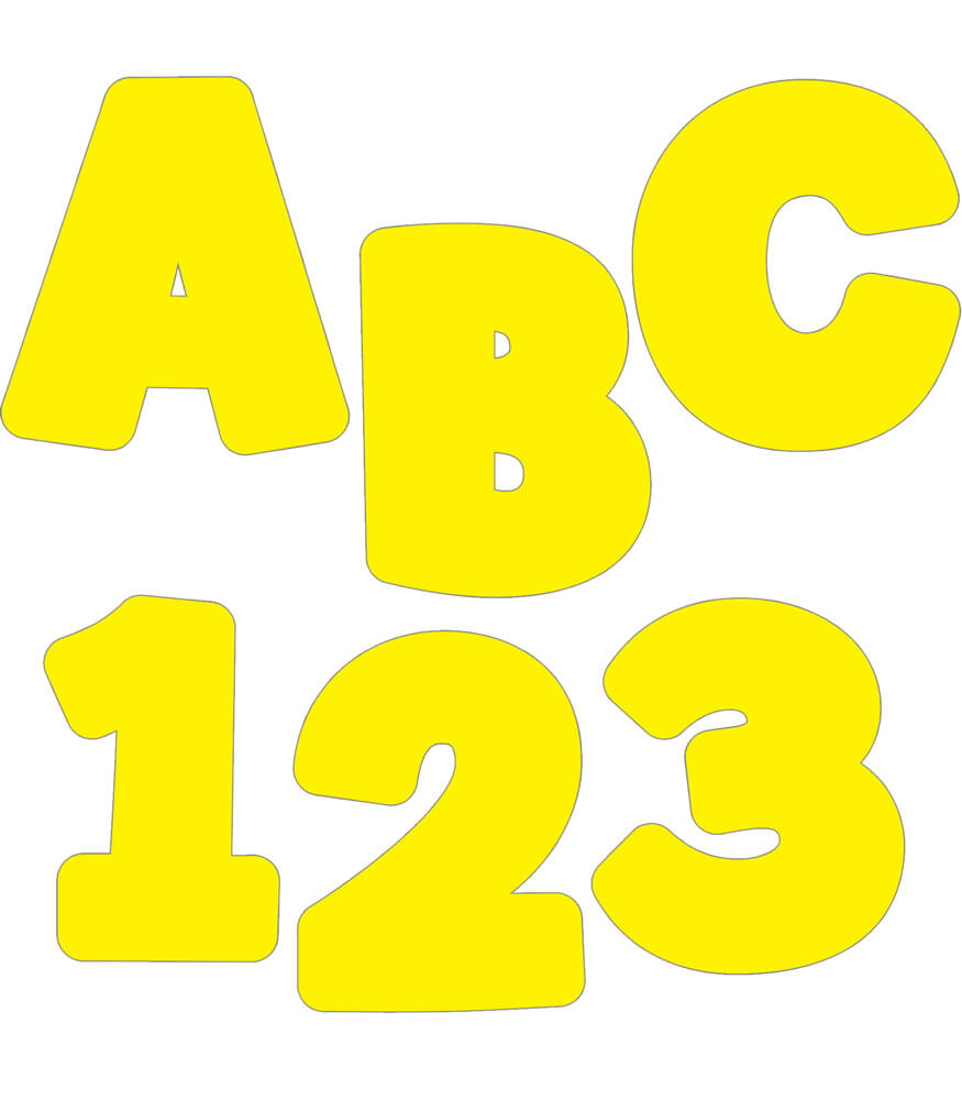 Yellow EZ Letters