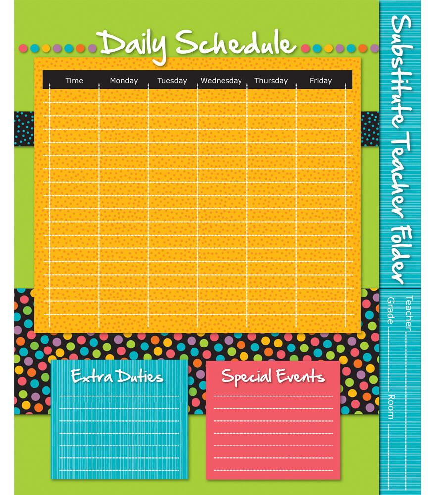 Stylin' Stripes Substitute Teacher Folder Product Image