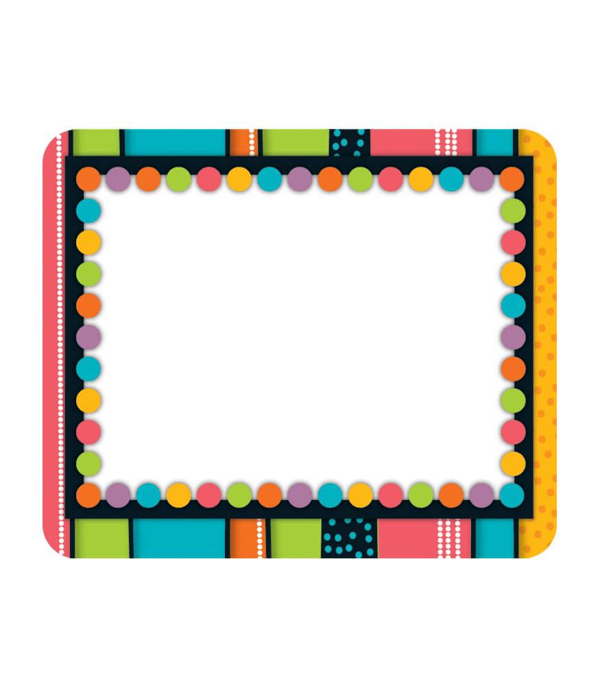 Classroom Rules Design ~ Stylin stripes name tags grade pk carson dellosa
