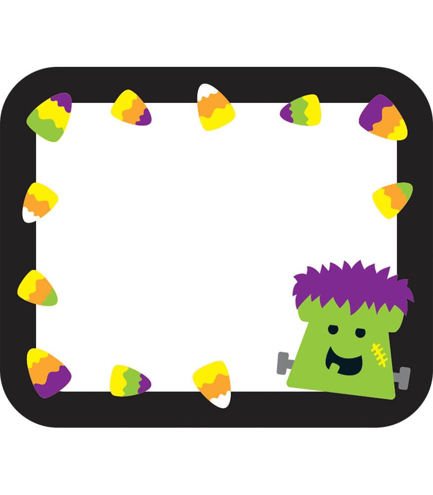 halloween name tags grade pk 5 carson dellosa publishing clipart bugles clip art bug bites