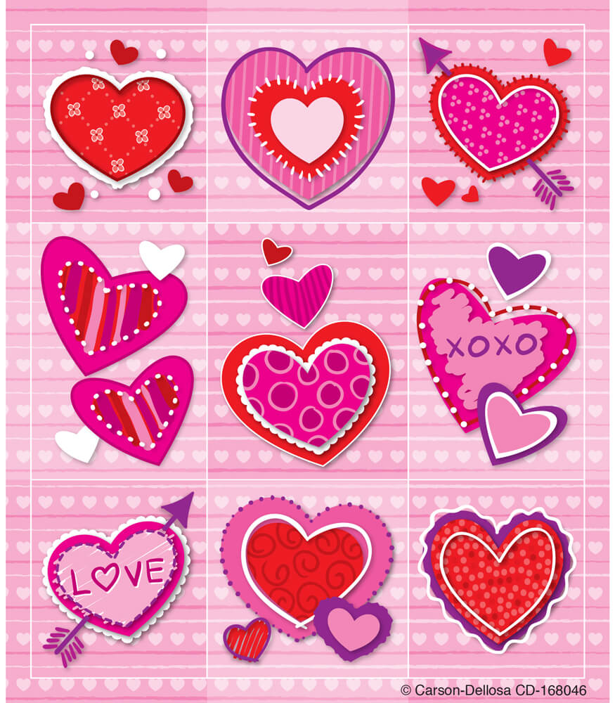 Valentines Prize Pack Stickers | Carson-Dellosa Publishing