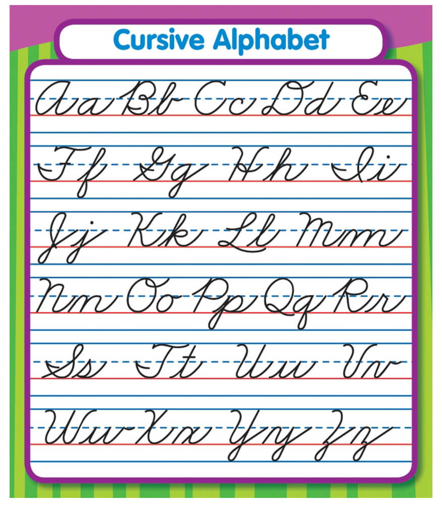 Worksheet Cursive Alphibet cursive alphabet sticker pack carson dellosa publishing pack