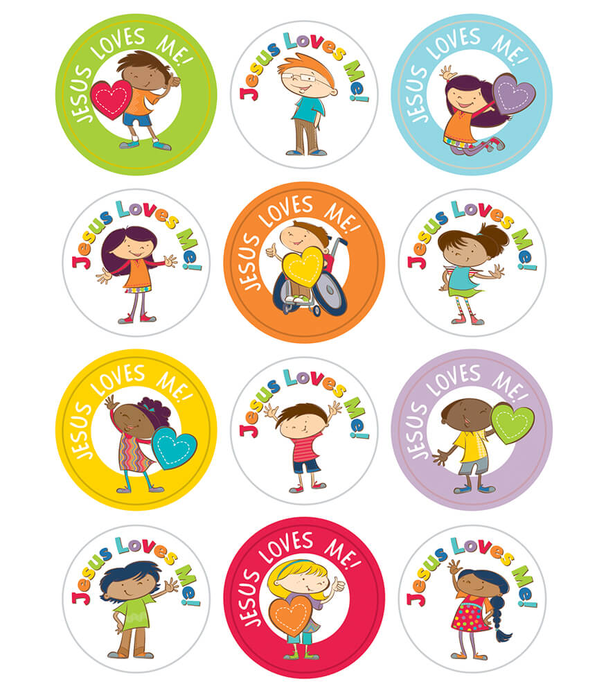 168160 Jesus Loves Me Stickers 168160 on Free Princess Learning Pack For
