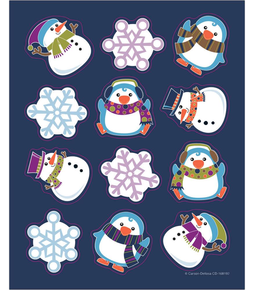 Winter Fun Shape Stickers