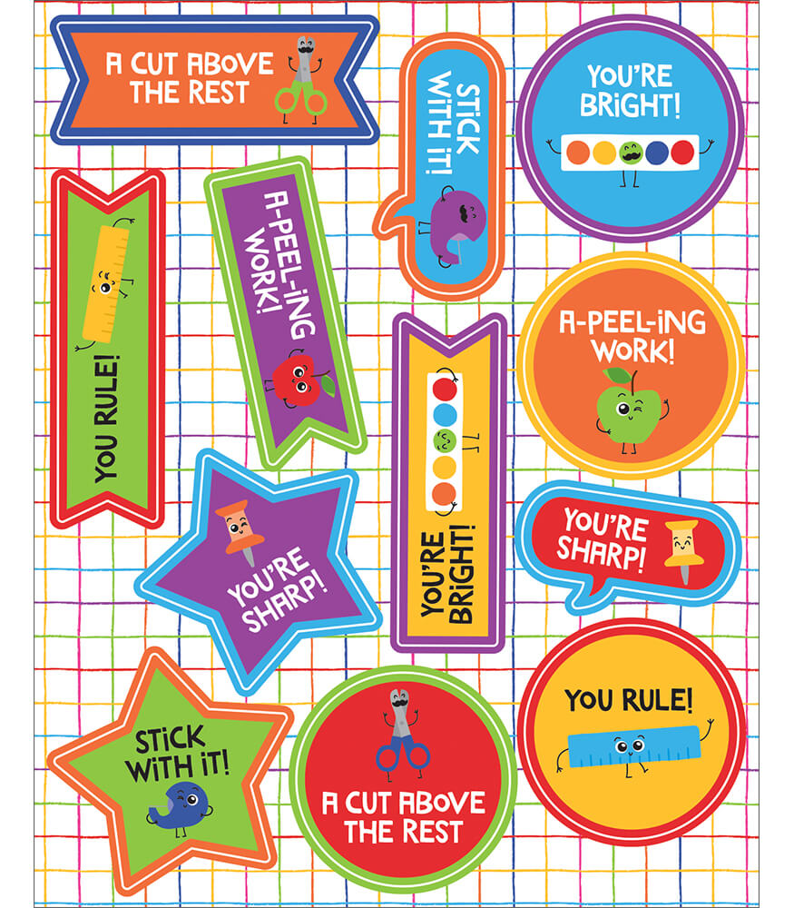School Tools Motivators Motivational Stickers