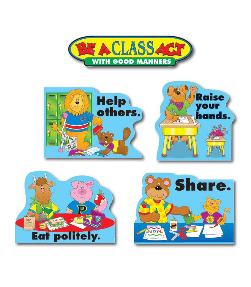 1727 Good Manners Bulletin Board Set 1727 on Free Printable Homeschool Worksheets