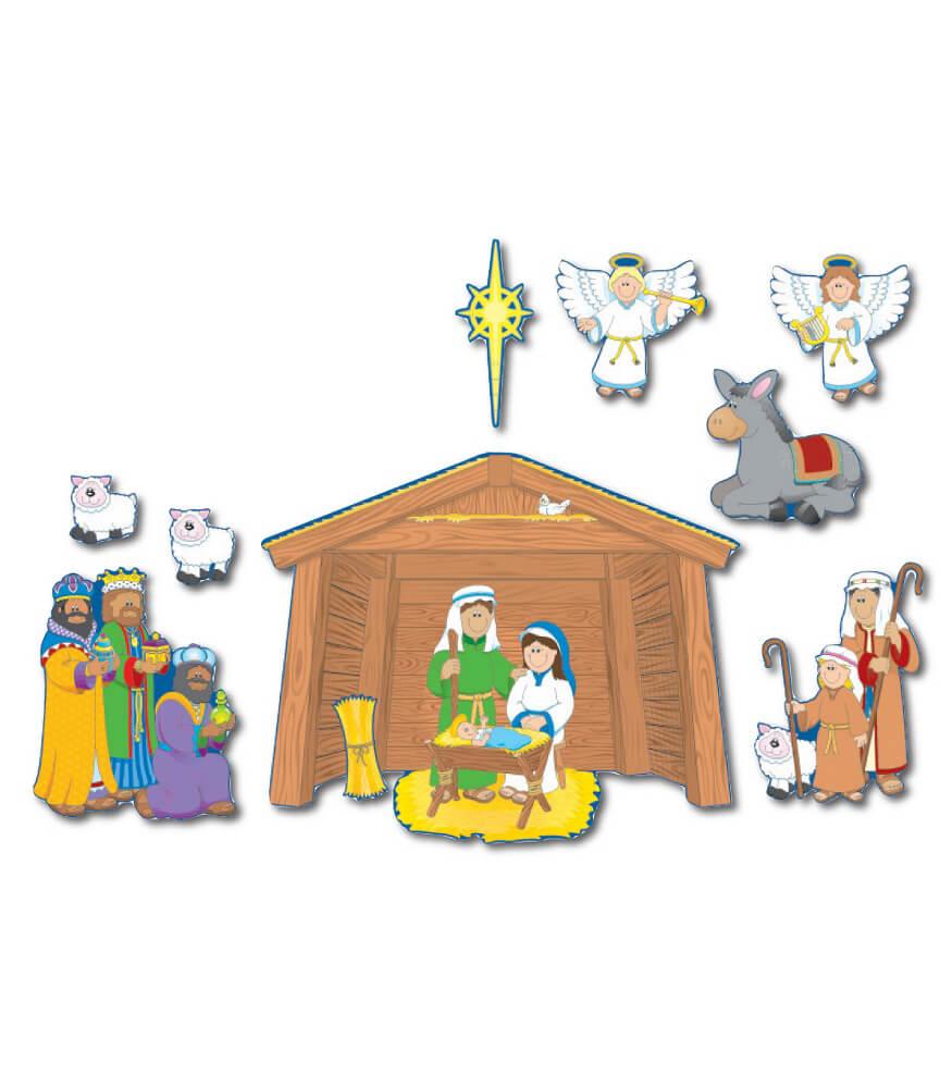 1750 Nativity Bulletin Board Set 1750 on Bulletin Board Kids Monsters