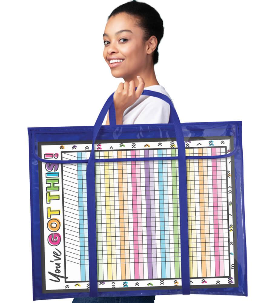 Deluxe Bulletin Board Storage Pocket Chart Storage