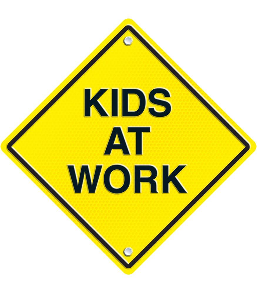 Image result for children at work sign