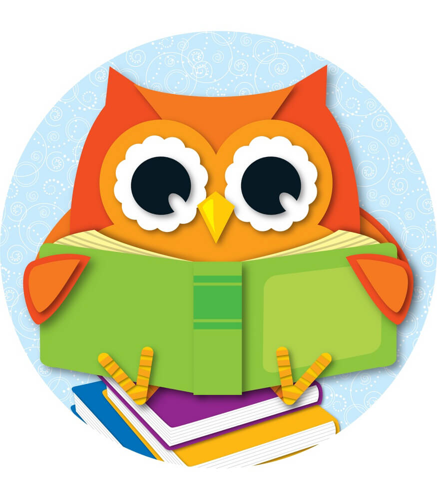 Reading Owl Two Sided Decoration Grade PK 5 Carson Dellosa