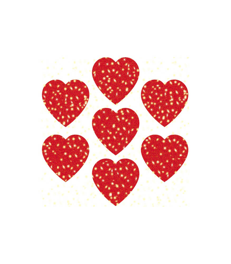 Hearts, Red Dazzle™ Stickers Product Image