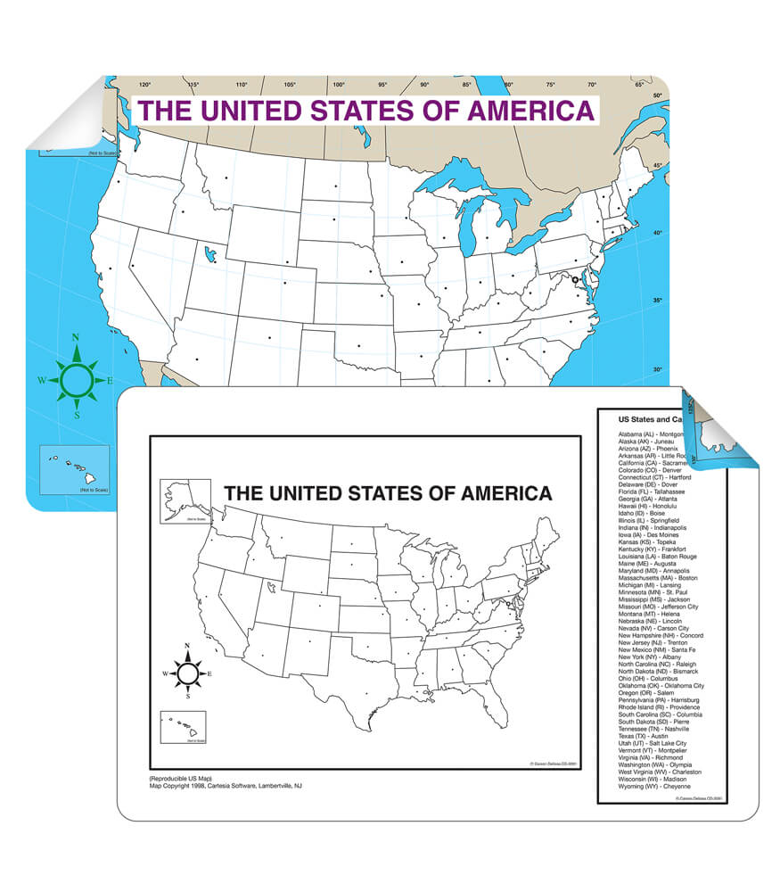 US Map Jumbo Pad Grade PK CarsonDellosa Publishing - Blank us map with states