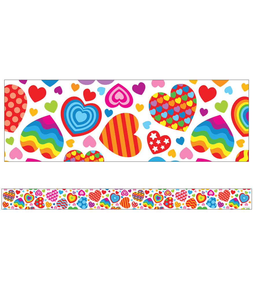 Groovy Hearts Straight Borders Product Image