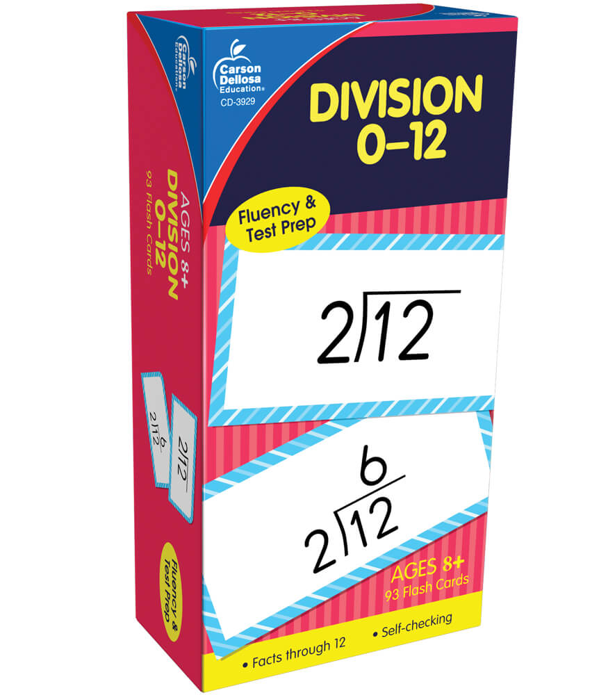 worksheet Division Flash Cards division 0 12 flash cards grade 3 5 carson dellosa publishing cards