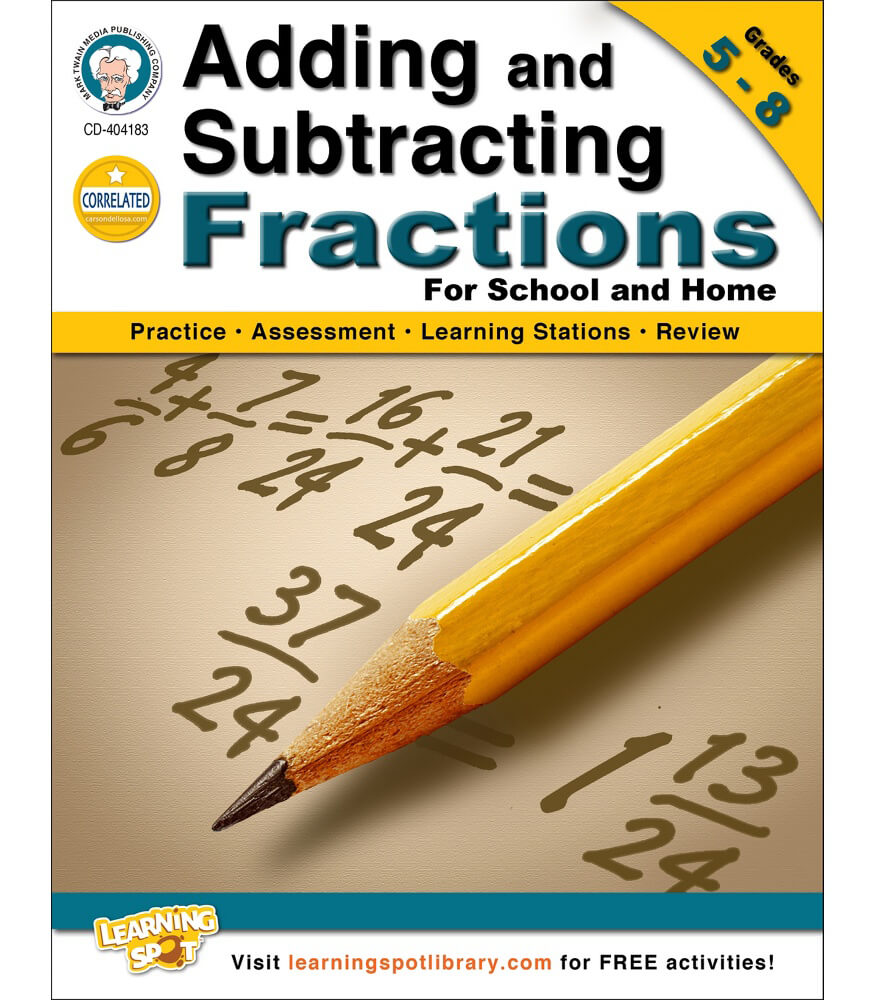 Adding and Subtracting Fractions Workbook Product Image