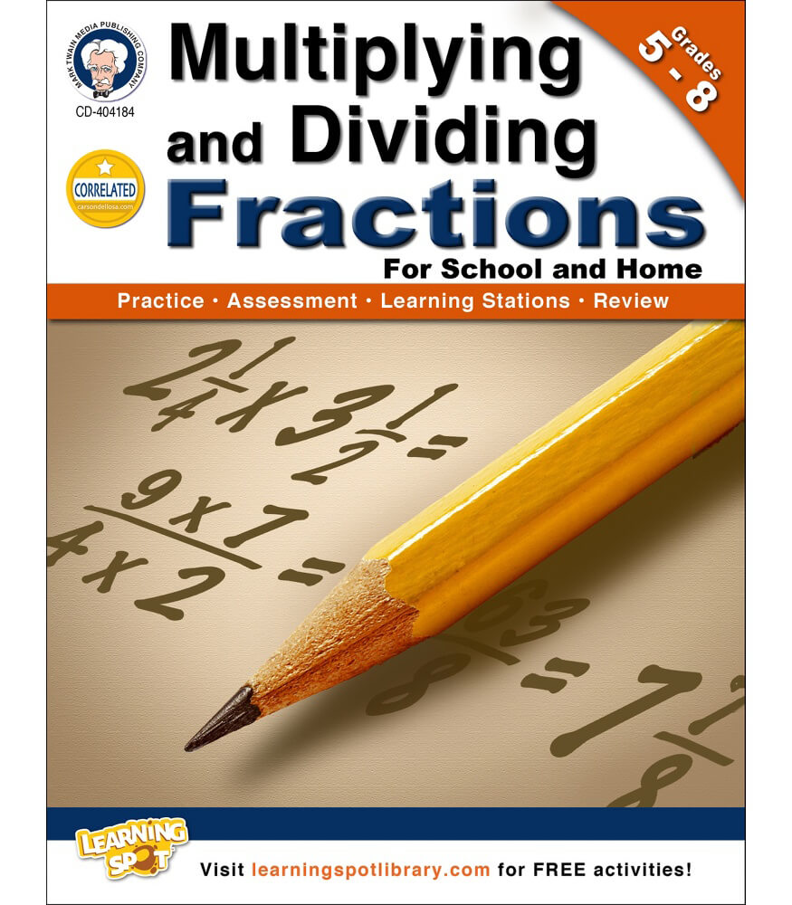 Multiplying and Dividing Fractions Workbook Product Image