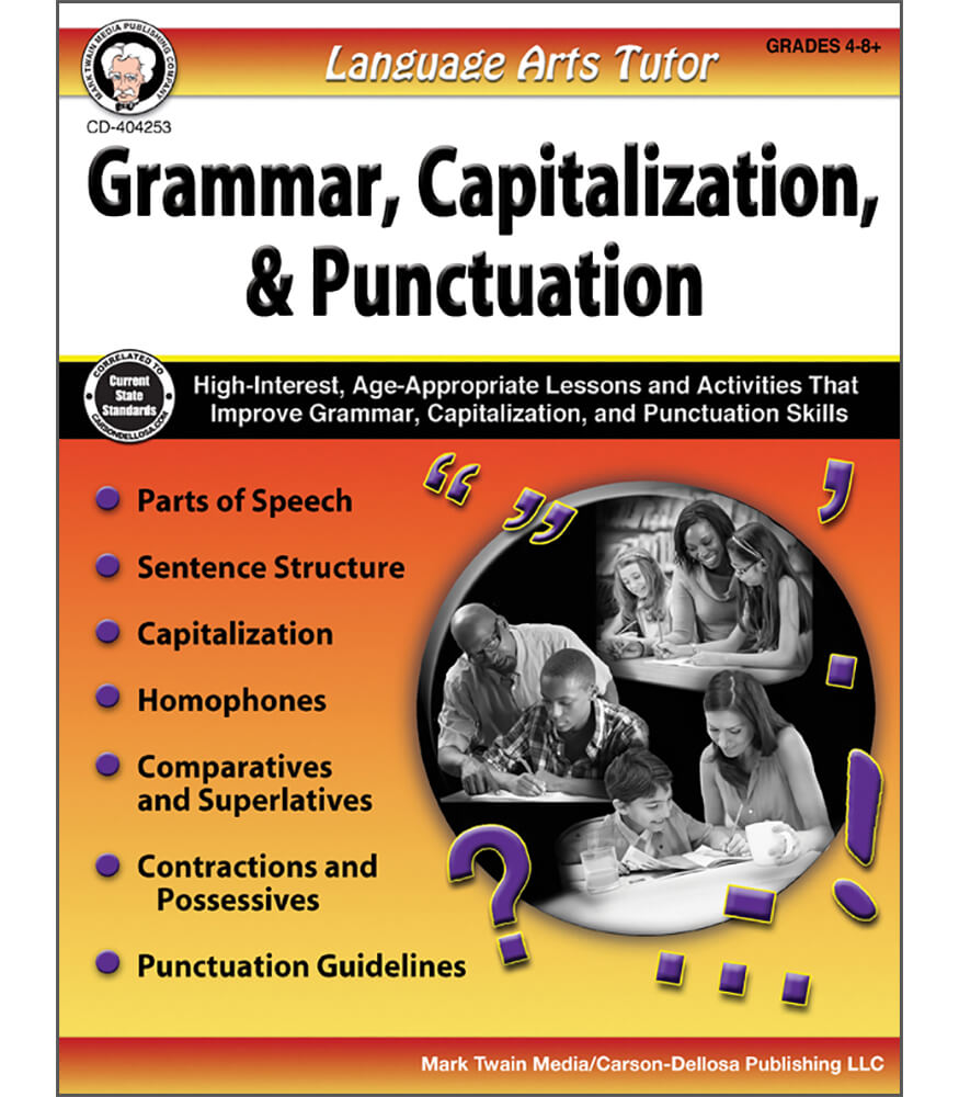 Language Arts Tutor: Grammar, Capitalization, and Punctuation Resource Book Product Image