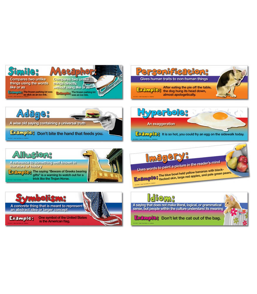 figurative language mini bulletin board set grade carson figurative language mini bulletin board set
