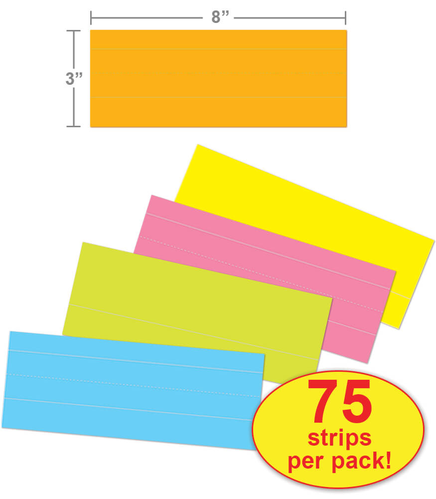 Multicolored Word-Size Sentence Strips Product Image