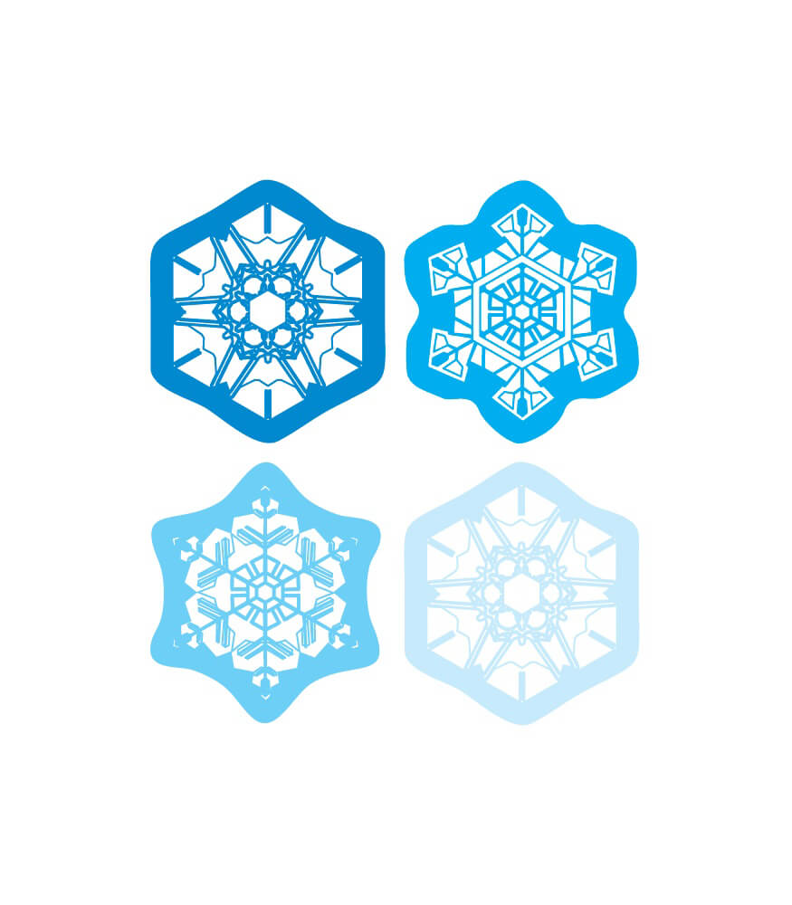 Snowflakes Shape Stickers Product Image
