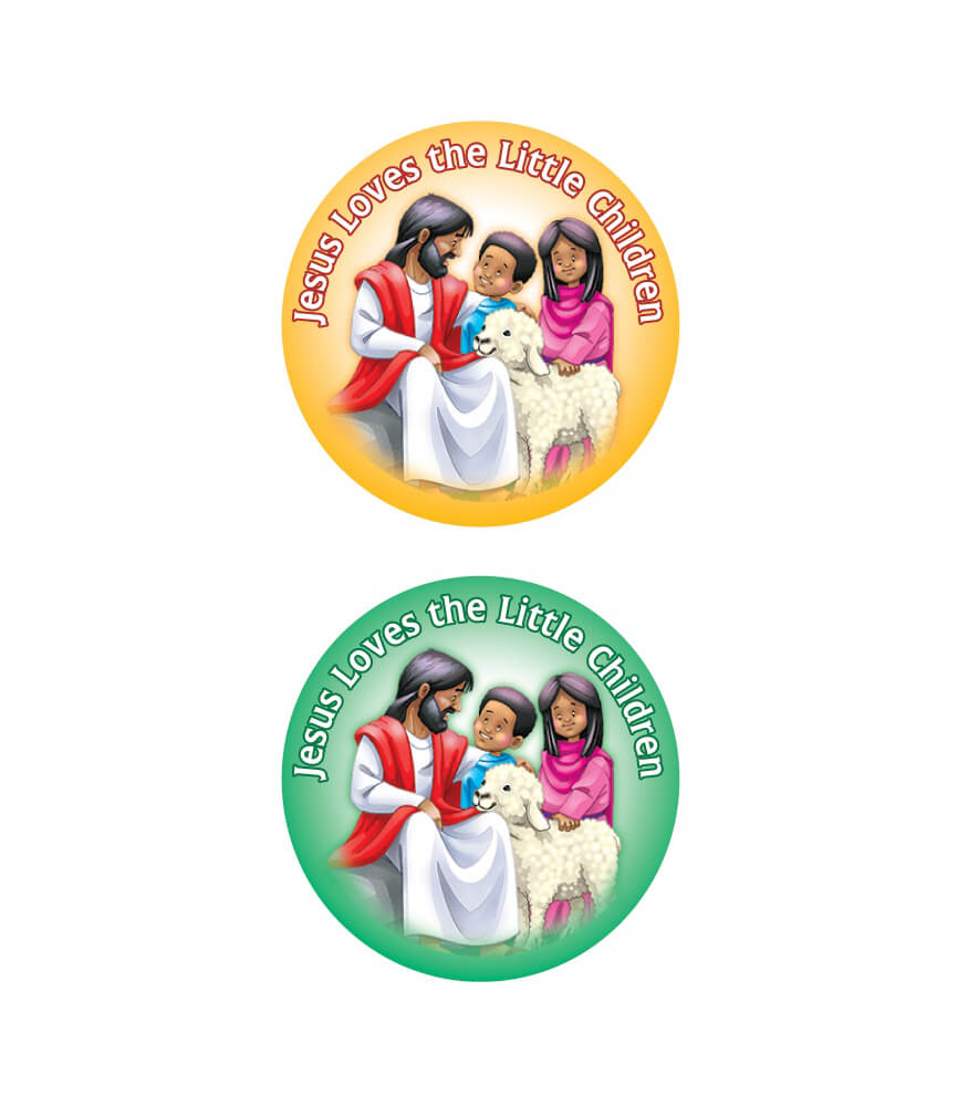 jesus loves the little children shape stickers grade pk 5 carson