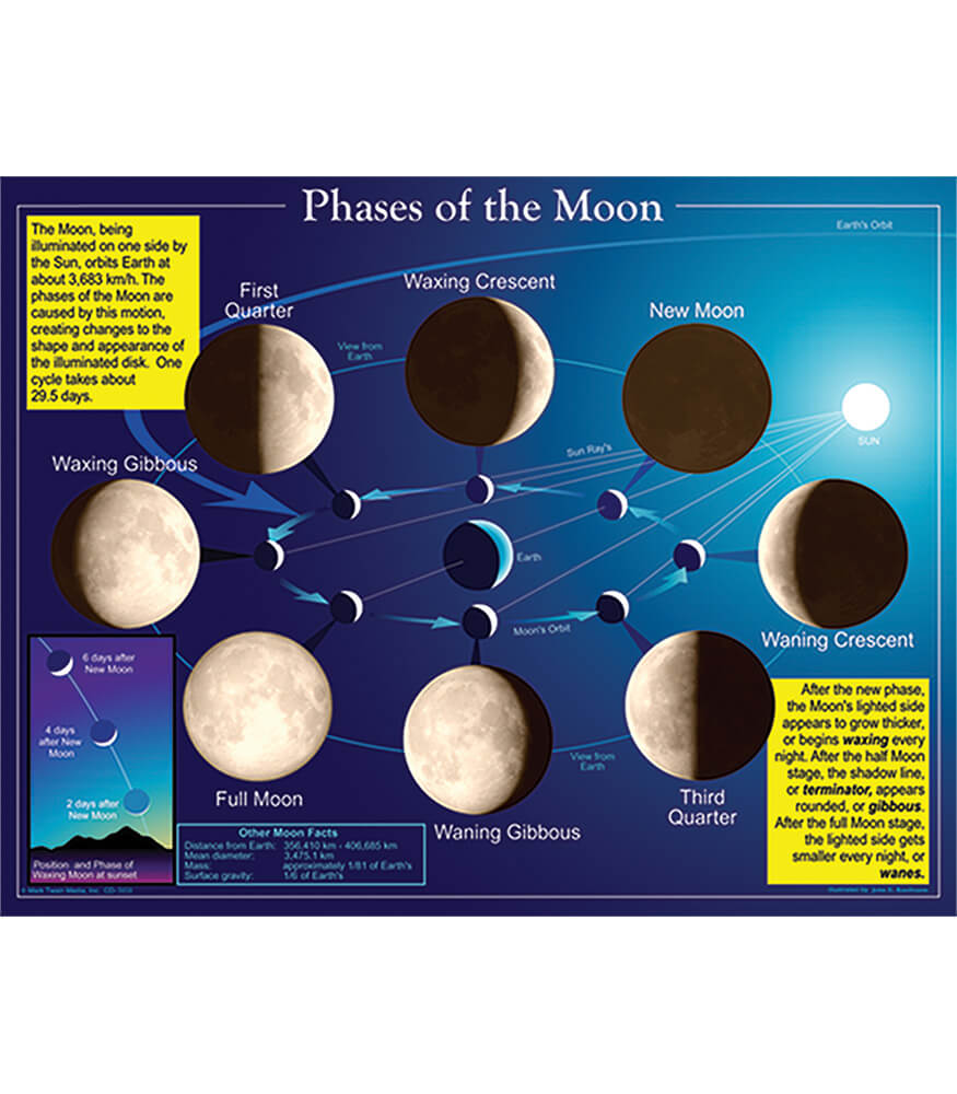 Phases of the Moon Chart Product Image