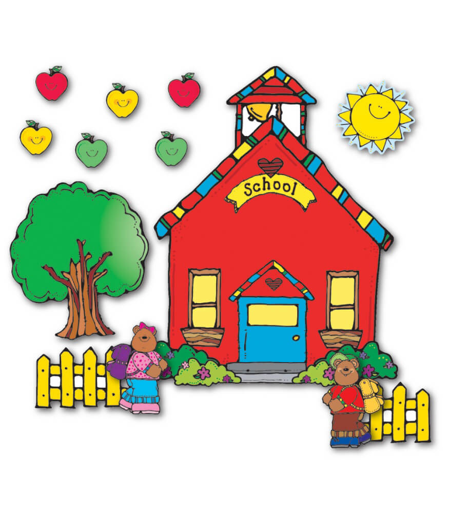 Schoolhouse Bulletin Board Set Grade PK-5