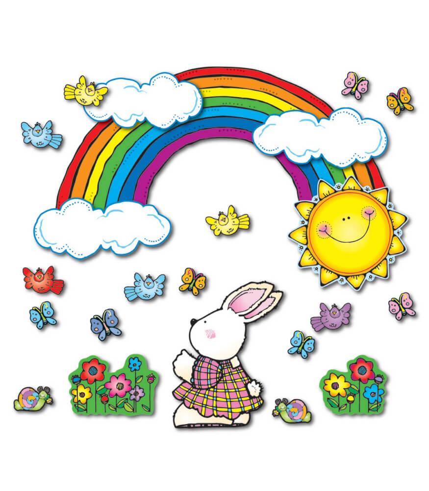 Sun n Rainbow Bulletin Board Set Grade PK 2 Carson