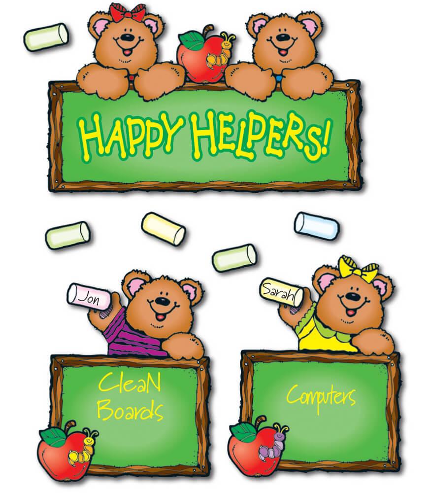 610030 Happy Helper Bears Bulletin Board Set 610030 on Bulletin Board Kids Monsters