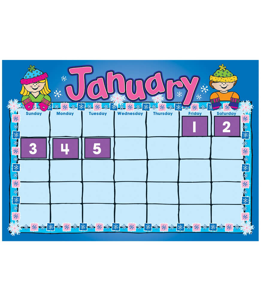 Calendar Pictures For Kids : D j kids calendar bulletin board set grade pk carson