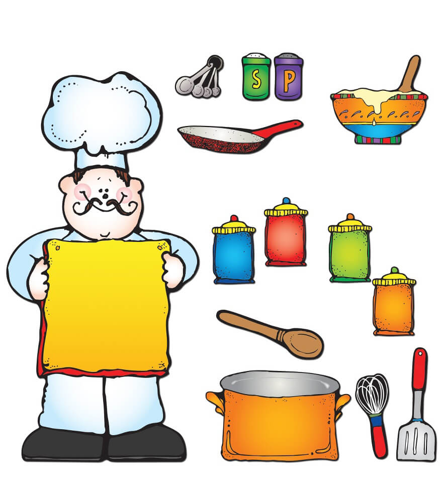 What S Cooking Bulletin Board Set Grade Pk 5 Carson