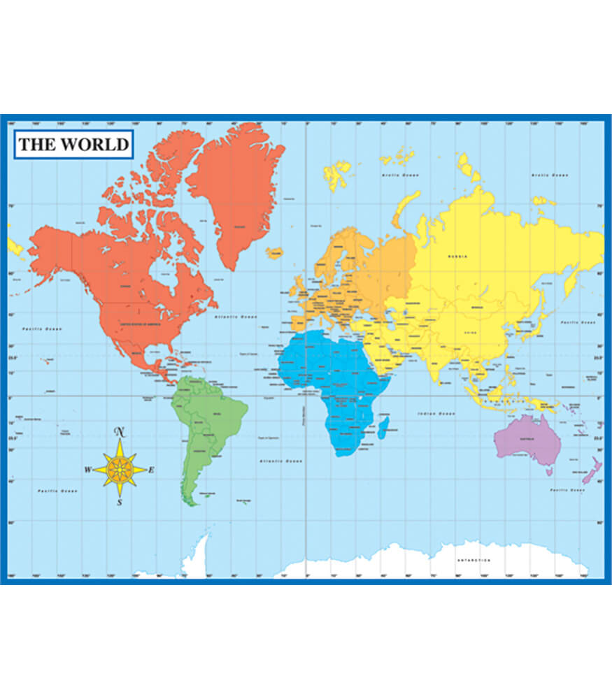 Map of the World Chart Product Image