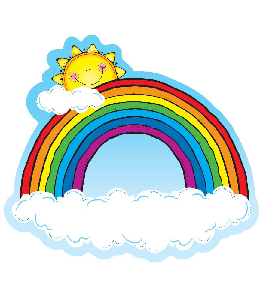 Rainbow Two Sided Decoration Grade Pk 2 Carson Dellosa