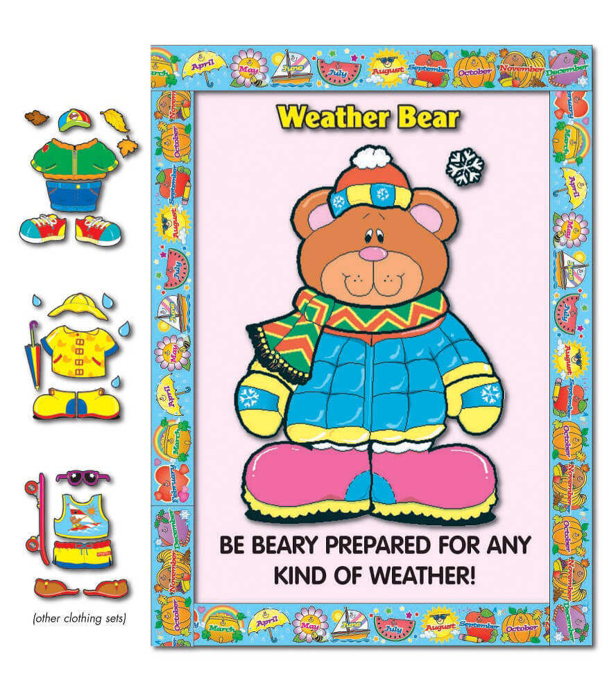 Weather Bear Bulletin Board Set