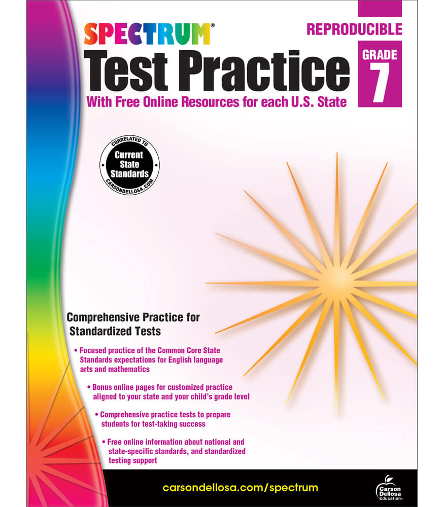 Spectrum Test Practice Workbook Product Image