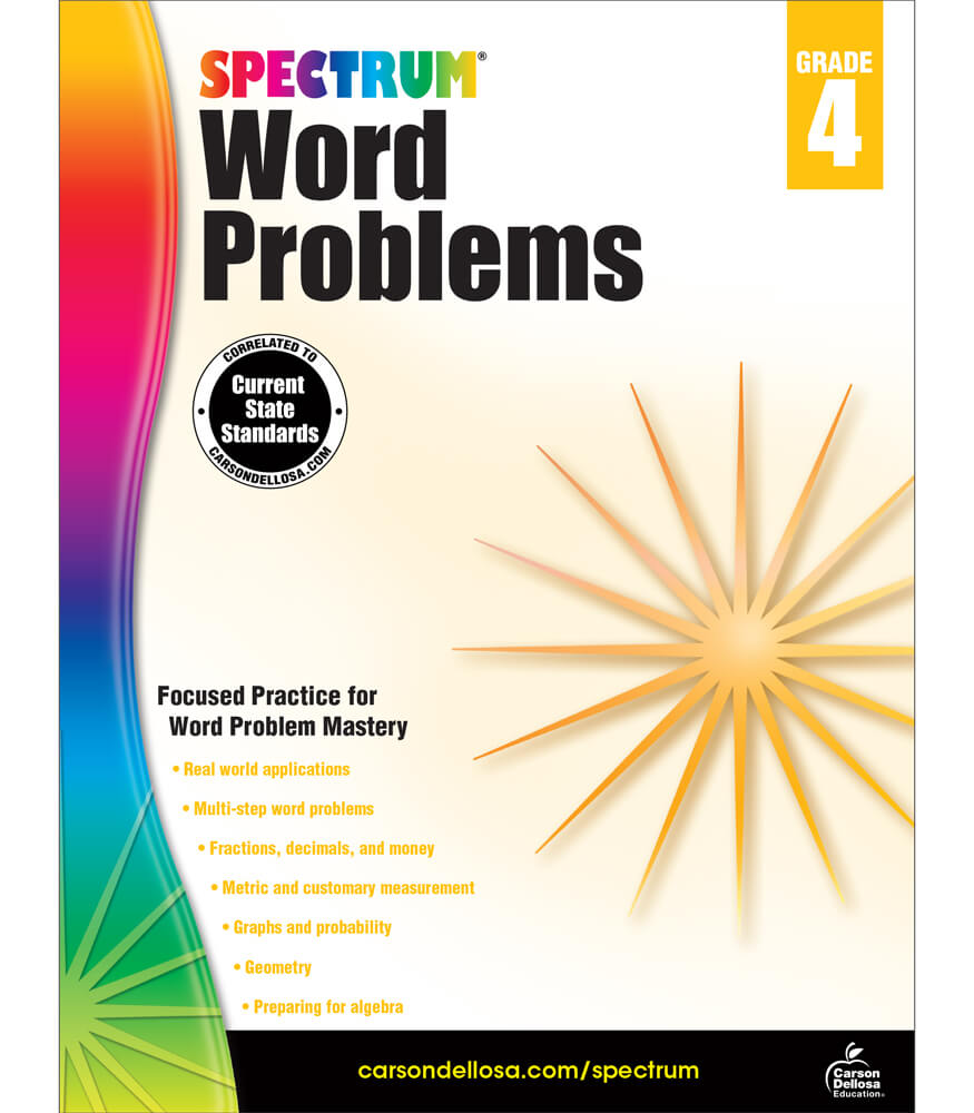 Spectrum Word Problems Workbook