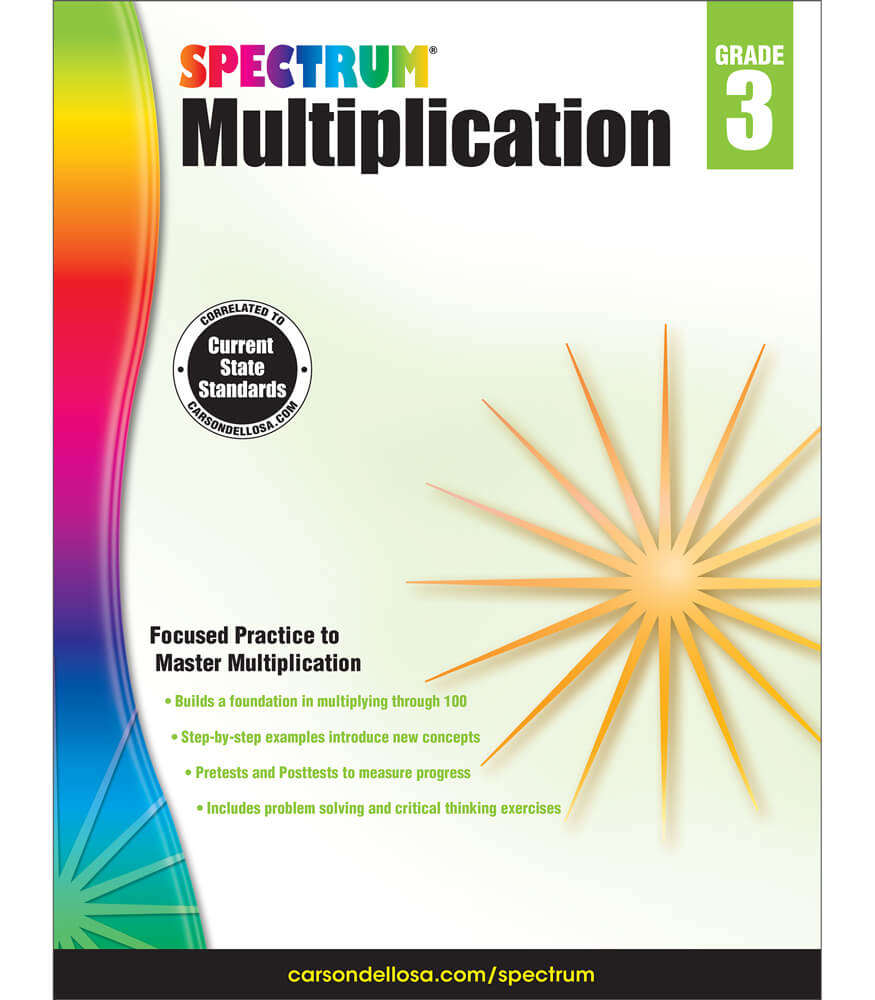 Spectrum Multiplication Workbook Grade 3 : Carson-Dellosa ...
