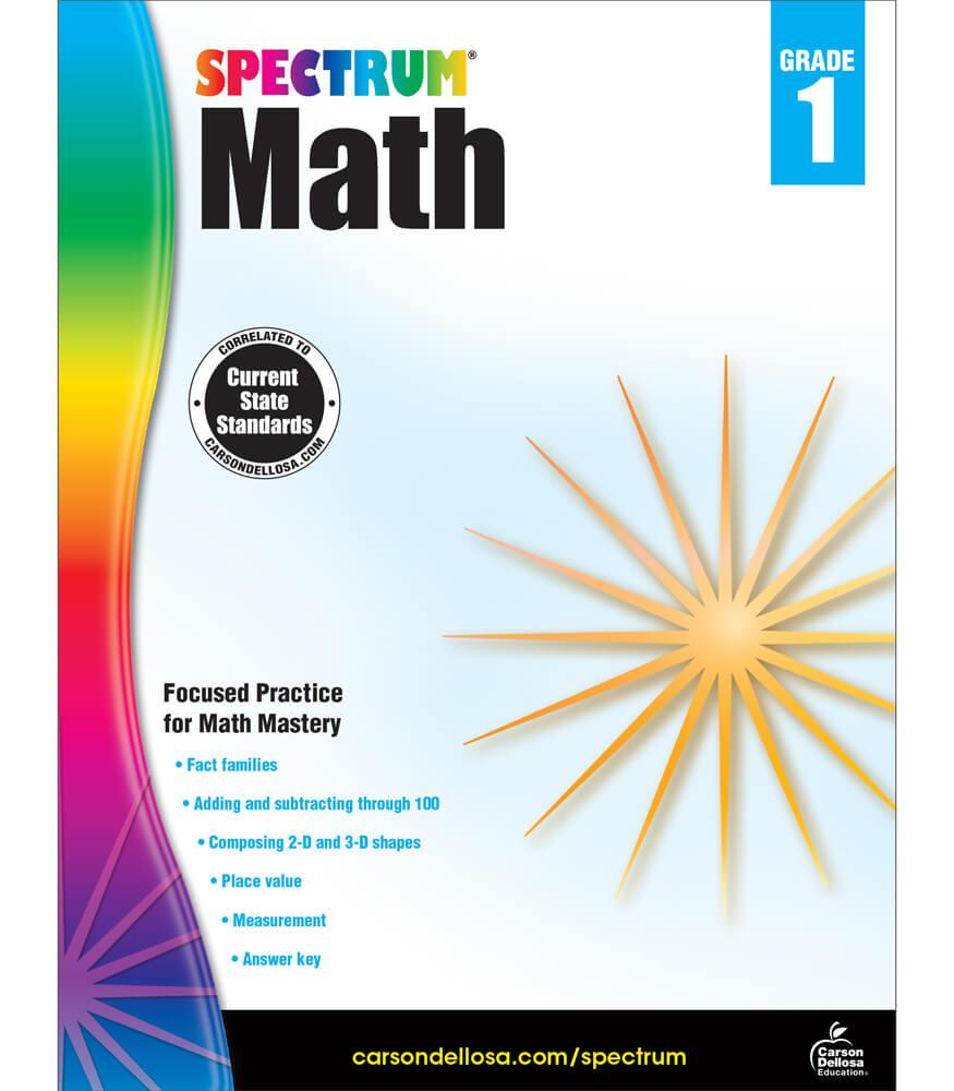 Worksheet Math Workbook Grade 1 spectrum math workbook grade 1 carson dellosa publishing workbook
