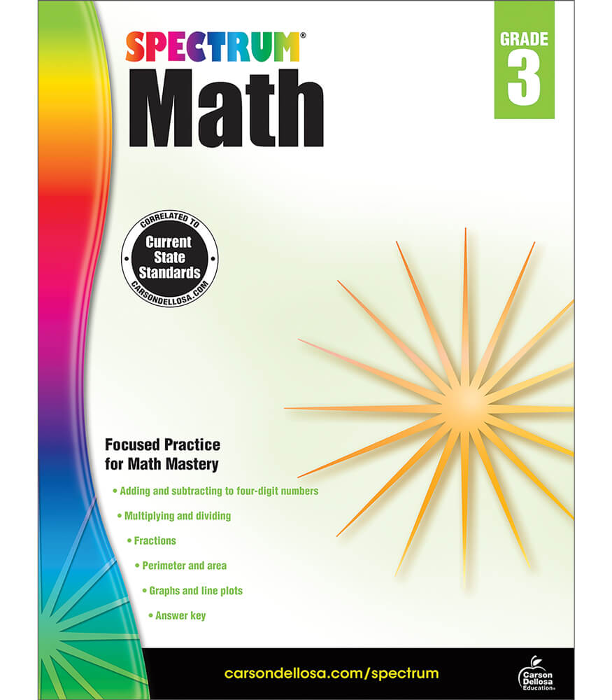 Spectrum Math Workbook Grade 3 | Carson-Dellosa Publishing