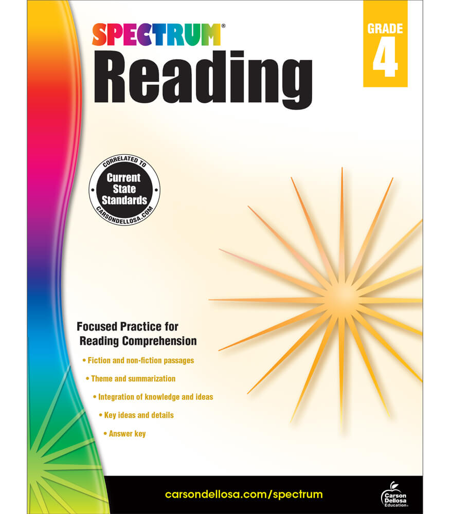 Worksheet Grade 4 Reading spectrum reading grade 4 carson dellosa publishing workbook