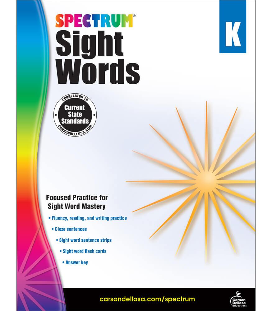 Spectrum Sight Words Workbook Product Image