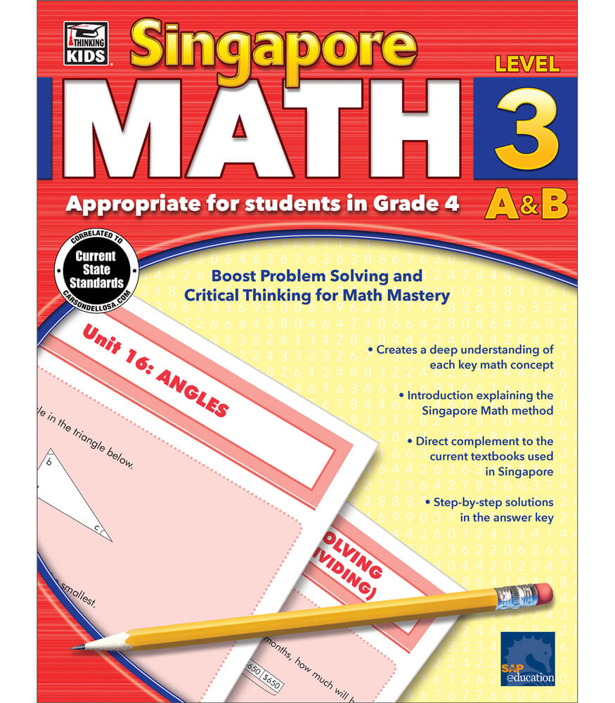 Singapore Math Workbook Grade 4 | Carson-Dellosa Publishing