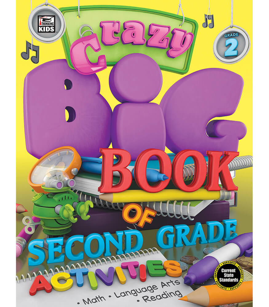 Crazy Big Book of Second Grade Activities Activity Book Product Image
