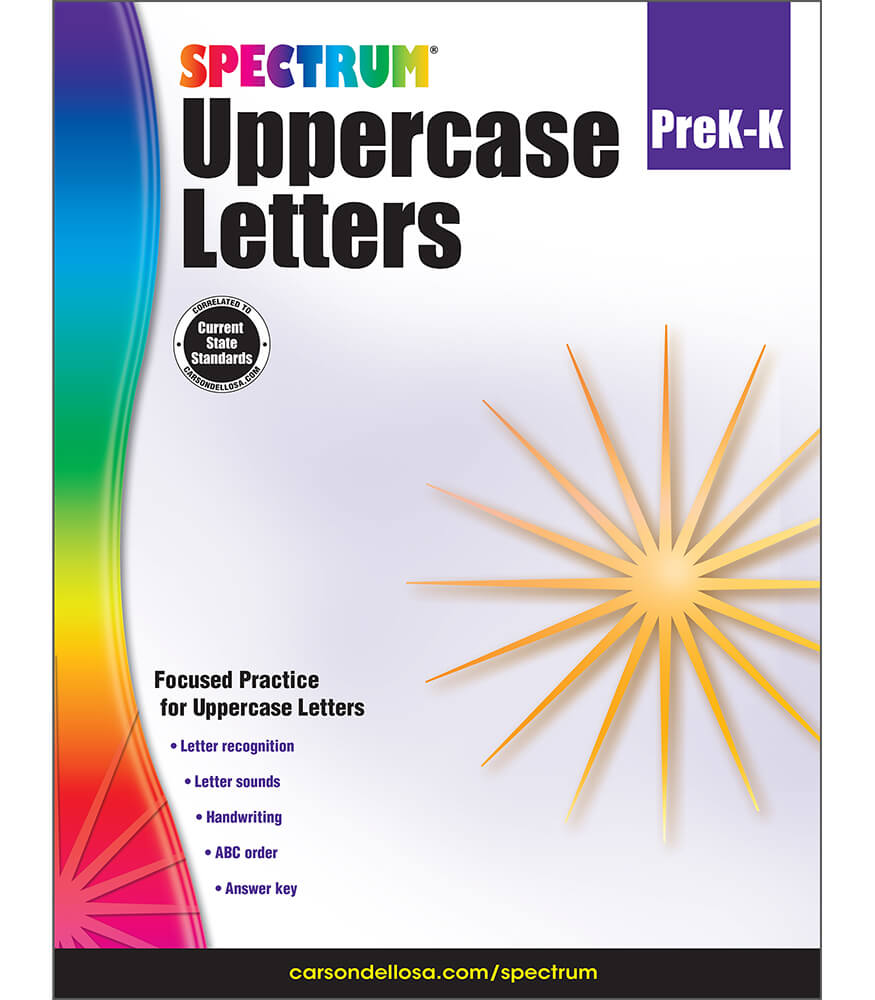 Spectrum Uppercase Letters Workbook Product Image